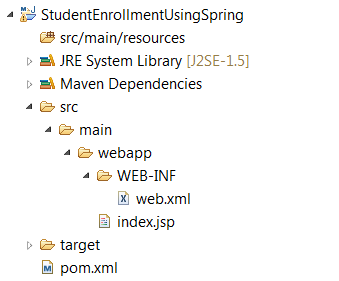 Hibernate Spring Maven Project Layout